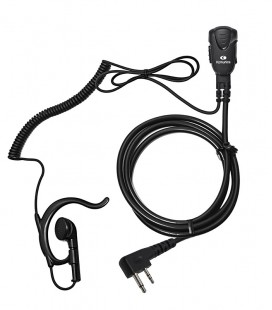 Micro-earphone x ICOM (2Pin right angle) Coil cord