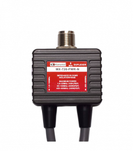 Duplexer 1.6-150 & 400-470MHz, with cable
