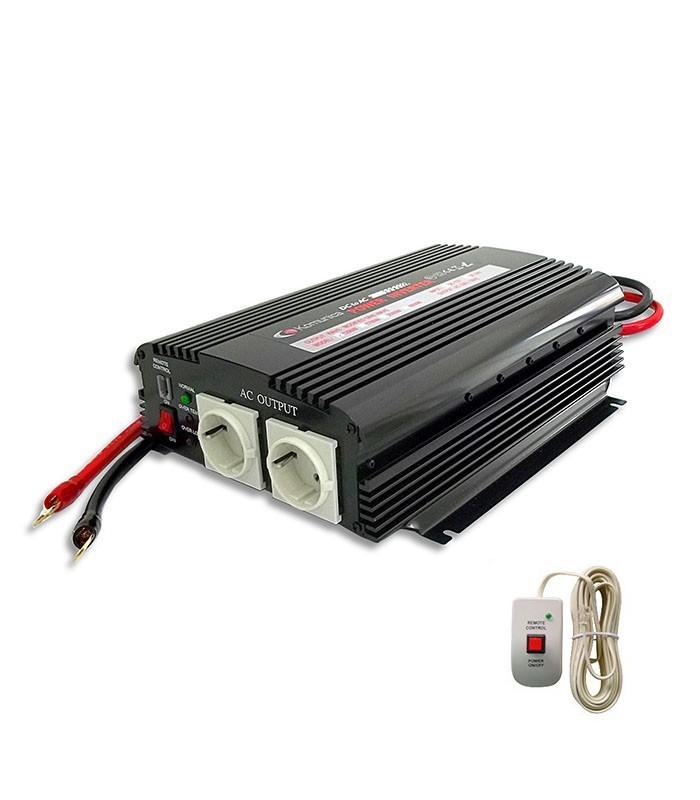INVERSOR 1200 W. 12V + CONTROL REMOTO